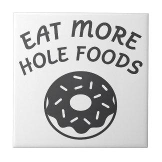 Coma mais alimentos do furo