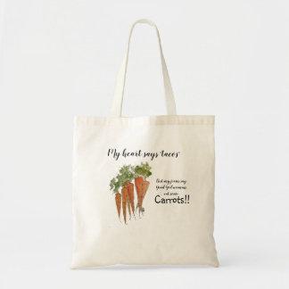 Coma mais bolsa das cenouras