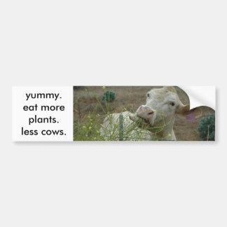 coma mais plantas.  menos vacas adesivo para carro