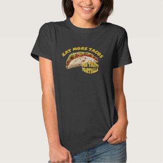 Coma mais Tacos - preto Tshirts