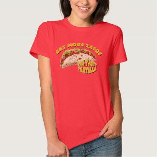 Coma mais Tacos - vermelho Camisetas