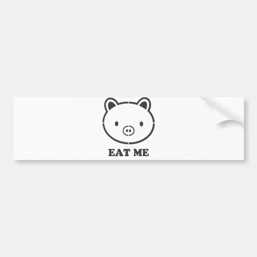 Coma-me porco adesivo
