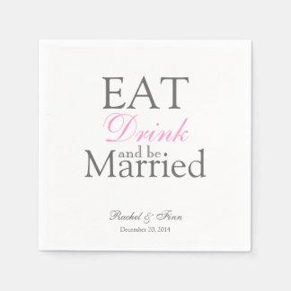 Coma n seja guardanapo casado do cocktail