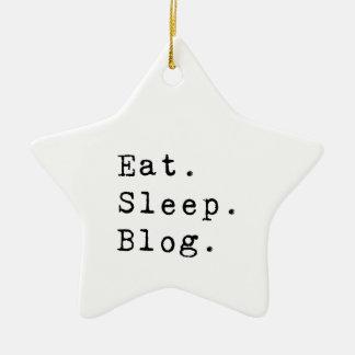 Coma o blogue do sono ornamento de cerâmica estrela
