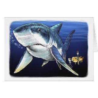 Coma o cartão do tubarão