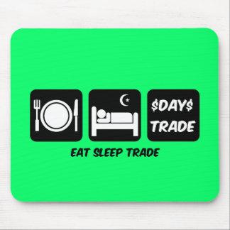 coma o comerciante de dia do sono mouse pad