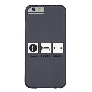 coma o desgaste do nerd do código do sono capa barely there para iPhone 6