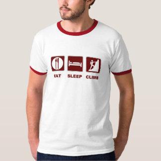 Coma o design do t-shirt e do presente da escalada camiseta