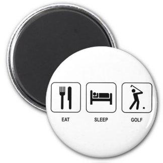 Coma o ímã do golfe do sono imã de geladeira