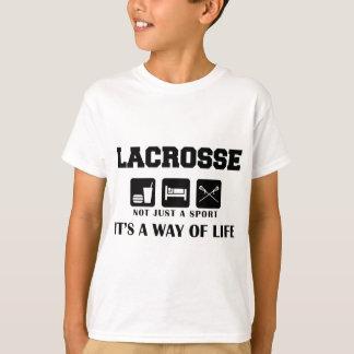 Coma o Lacrosse do jogo do sono Camiseta