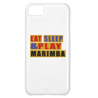 Coma o MARIMBA do sono e do jogo Capa Para iPhone 5C