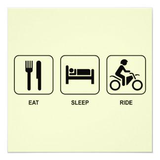 Coma o passeio do sono convite personalizado