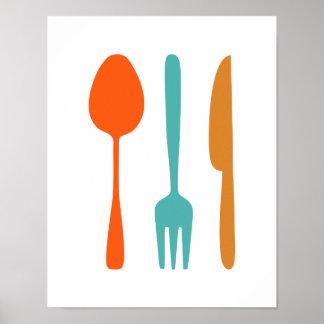 Coma - o poster denominado moderno da cozinha do