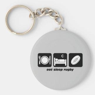 coma o rugby do sono chaveiro