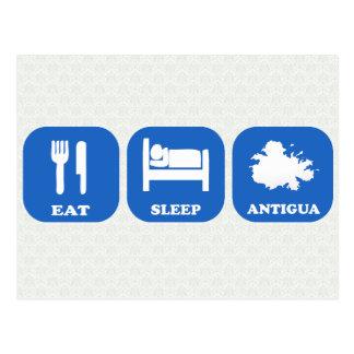 Coma o sono Antígua Cartão Postal