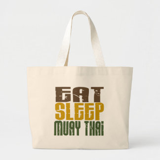 Coma o sono Muay 1 tailandês Sacola Tote Jumbo