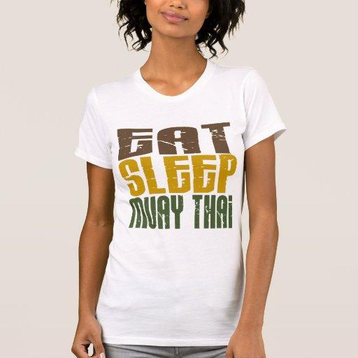 Coma o sono Muay 1 tailandês T-shirt