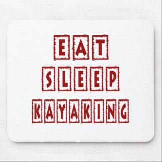 Coma o sono que Kayaking Mouse Pad