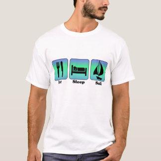 Coma o t-shirt da vela do sono camiseta