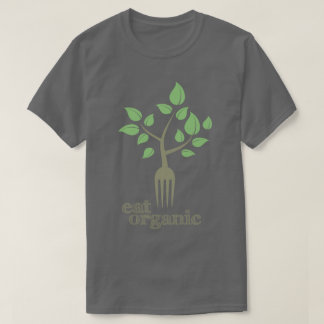 Coma o t-shirt natural da saúde do slogan do camiseta