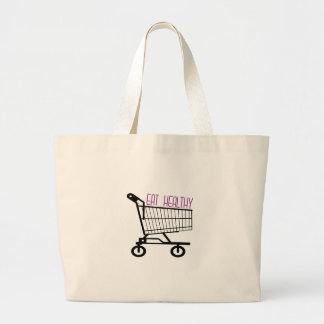 Coma saudável bolsa para compras