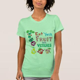 Coma seus fruta e vegetarianos - bege camisetas