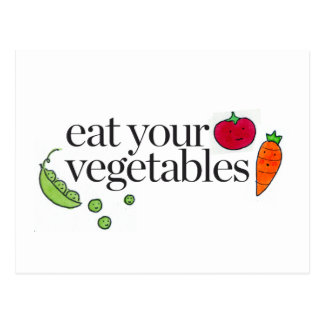Coma seus vegetais cartão postal