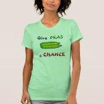 Coma seus vegetarianos dão a ERVILHAS um t-shirt