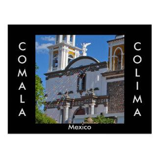 Comala, cartão de Colima, México