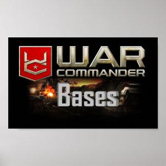 Comandante Base Pequeno Poster da guerra