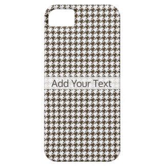 Combinação Houndstooth de Brown por Shirley Taylor Capa Barely There Para iPhone 5
