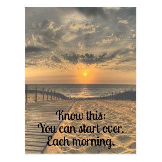 Comece sobre o cartão inspirado das citações