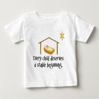Começo estável camiseta para bebê