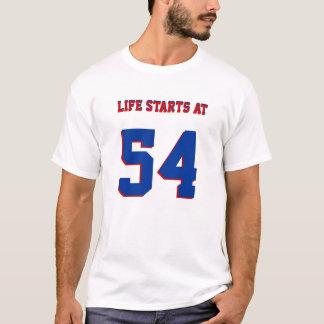Começos da vida no 54th aniversário 54 engraçado t-shirts