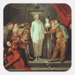 Comediantes italianos, c.1720 adesivo quadrado