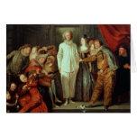 Comediantes italianos, c.1720 cartão comemorativo