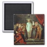 Comediantes italianos, c.1720 ímã quadrado