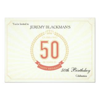 Comemorando 50 anos de convite do aniversário