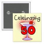 Comemorando 50 camisetas e presentes boton