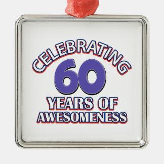 Comemorando 60 anos enfeite de natal