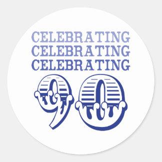 Comemorando 90! (Festa de aniversário) Adesivo