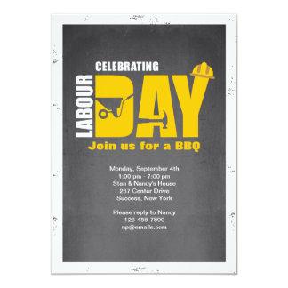 Comemorando o convite do Dia do Trabalhador