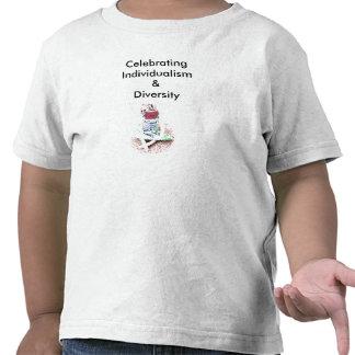 Comemorando o individualismo & a diversidade tshirt