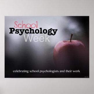 Comemorando o poster da semana da psicologia da