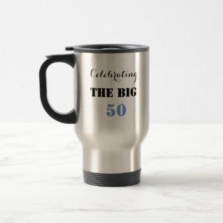 Comemorando os 50 GRANDES - caneca de viagem