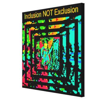 Comemore a diversidade - Inclusão-NÃO-Exclusão Impressão Em Tela