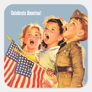 Comemore América, 4o de etiquetas patrióticas de