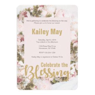 Comemore as bênçãos - cartão de Babyshower dos