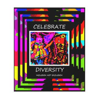 Comemore citações da diversidade impressão em tela