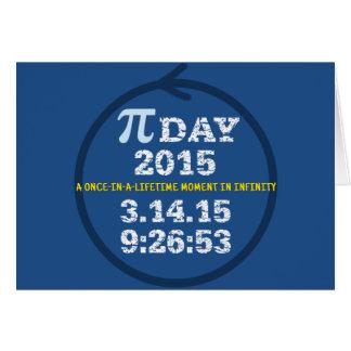 Comemore o cartão 2015 do dia do Pi